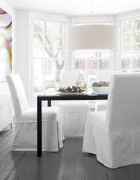 White Parsons Dining Table 18 Sleek Glass Dining Tables