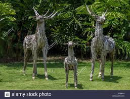 delightful rustic deer made from wood a great garden
