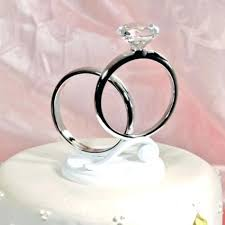 ring cake topper wedding ring cake topper or engagement from easy weddings uk