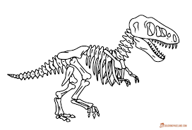 click the day of the dead skeleton coloring pages dinosaur