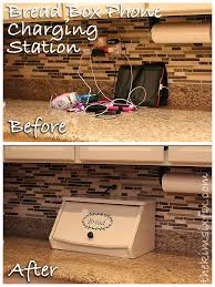 build a charging station electronics charging station disguised as a breadbox the kim six fix