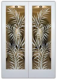etched glass pantry doors interior glass doors ferns glass pantry door interior glass