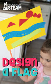 Customize Your Own Flag Design Your Own Flag Preschool Steam