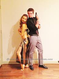 coolest couple halloween costume james bond and the golden