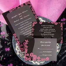 invitations online unique wedding invitations online pink and black ewi048 as low as