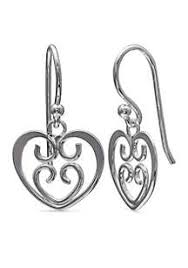 simply whispers earrings heart earrings belk