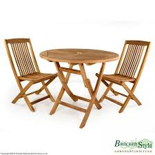 Teak Garden Table 2 Seater Folding Teak Garden Table Set