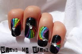 brush me blush rainbow nail art