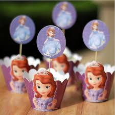 princess sofia paper cupcake wrappers decorating boxes cake cup
