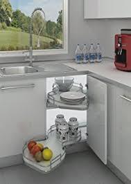 blind corner kitchen cabinet organizers amazon com rev a shelf 5psp 15 cr 15 in blind corner cabinet