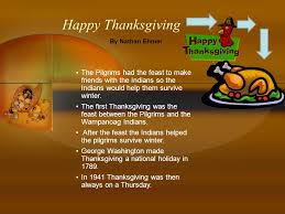 happy thanksgiving from wakelee school ppt