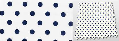 White Curtains With Blue Pattern Classic Polka Dot Patterned White U0026 Navy Blue Kids Bedroom Curtains