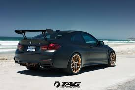 matte bmw bmw m4 gts looks ready to attack in matte black