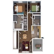 Small Apartments Plans Three Bedroom Flat Plan Fujizaki