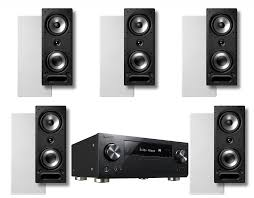 dolby atmos home theater system pioneer vsx 1131 7 2 receiver w polk audio vs265 in wall speakers