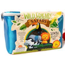 amazon com wild friends safari sewing u0026craft kit zebra toucan
