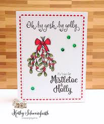 stamps at play merry monday christmas card challenge 249 mistletoe