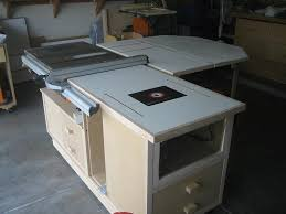 table saw station plans table saw work station ridgid plumbing woodworking and power