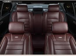 housses de si es voiture livraison gratuite beige brun orange de luxe pu en cuir de