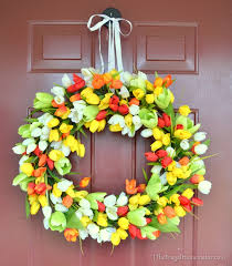 tulip wreath tulip wreath make your own wreath tutorial