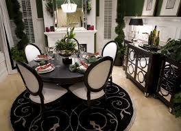 black dining room white and black dining room table