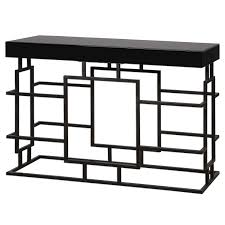 uttermost 24643 andy black console table homeclick com