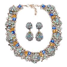 necklace trendy images New design women crystal necklace trendy bib statement collar JPG