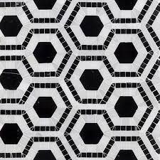 Best 10 Black Hexagon Tile by Splashback Tile Kosmos Black And Asian Statuary Hexagon 11 3 4 In
