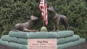 dog memorial defender protector friend war dog memorial unveiled in michigan