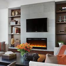 in wall electric fireplace binhminh decoration