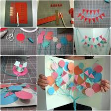 how to diy creative happy birthday banner and balloon card happy