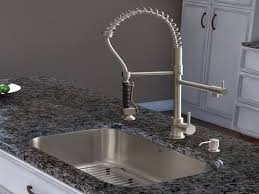 Stainless Steel Kitchen Faucets Awesome Stainless Steel Kitchen Faucet With Pull Down Spray My Blog