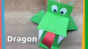 paper dragon diy with breathing fire simple and funny crafts to