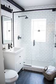 best 25 small white bathrooms ideas on pinterest bathrooms a modern meets traditional black and white bathroom makeover