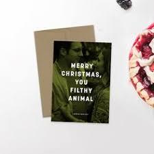 Newlywed Cards Modern Holiday Photo Card Minimalist Holiday Hipster Christmas