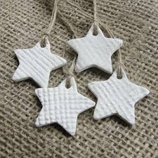 dough stars with pressed burlap texture home pinterest