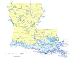 Louisiana Lakes images State of louisiana water feature map and list of county lakes gif