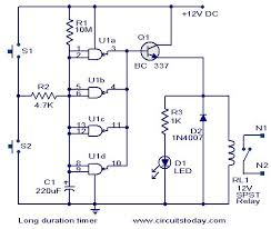 long duration timer circuit electronic circuits and diagram