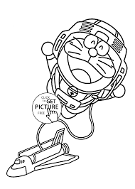astronaut coloring pages for kids printable free doraemon cartoon