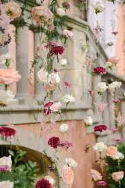 Hanging Flowers Garden Wedding In Tuscany With Hanging Flowers Ruffled