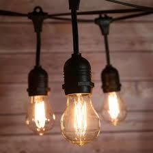 10 suspended socket vintage outdoor commercial string light set