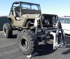 flat gray jeep car brand auctioned jeep cj willys flat fender 1946 crawler