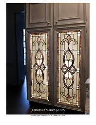 stained glass cabinet doors by farrell u0027s art glass