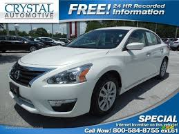 nissan altima 2013 dealers 2013 nissan altima 2 5 s in pearl white 163357 jax sports cars