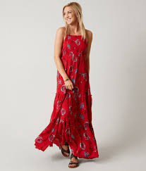 Free People Garden Party Maxi Dress Women U0027s Dresses In Red Combo
