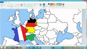 Show Me A Map Of Europe by Drawing European Flags On Empty Map 1 Simple Flags Youtube