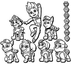 paw patrol coloring getcoloringpages
