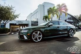 bentley racing green 2016 audi rs7 in verdant green looks like a bentley autoevolution