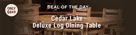 log furniture rustic furniture cabin decor great prices