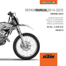 aomc mx ktm cd repair manual freeride 250 r us 2014 2015